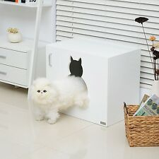Cat Toilet Kitten Litter Box Night Stand Furniture Cabinet Washroom Pets Toilet
