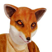 NEU Vollmaske Fuchs, Latex, braun und weiß Fuchsmaske