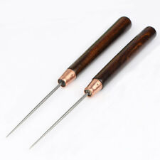 Leather Craft Awl Tool Hole Maker Sewing Stitch Fabric Shoes Punch Wood Handle