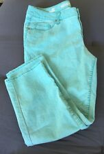 Mossimo Supply Co. Cropped Pant Aqua Lightweight Jeans Women's L, Junior Size 17