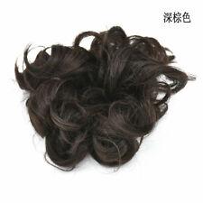 100% Natural Curly Messy Bun Hair Piece Scrunchie Hair Extensions as Human Grey