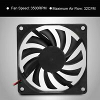 2PCS DC 12V 2Pin Cooling Fan 80x80mm 3500RPM for PC Computer Case CPU Cooler FOY