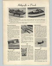 1954 PAPER AD Article Revell Models Chris Craft Navy's PT 212 Double Cabin Boat