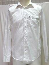 NAUTICA SHIRT, WHITE COTTON, LONG SLEEVES, MEN'S SMALL, VG COND