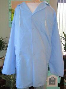 "Best Medical L/S Hooded Lab Coat Snaps 3 Pockets 39"" Length Sz 3X"