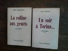 Lot de 2 livres de Léo  Dartey la colline aux genêts + Un soir à Torina