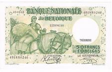 "50 Frank/Franc = 10 BELGAS  type  ""1927"" Anto-Carte  05.01.1943  Morin 44d   UNC"