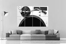 TECHNICS Dj Platine Disque Wall Art Poster Grand format A0 Large Print