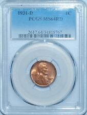 1931 D PCGS MS64RD Red Lincoln Wheat Cent Penny