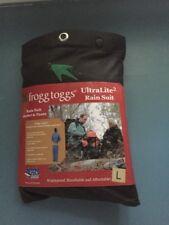 Frogg Toggs All Sport Rain Suit Jacket & Pants Gear Wear Sports Frog Black L