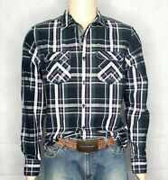 GUESS Los Angeles Dillon Slim Fit Check Long Sleeve Men's Shirt Size M