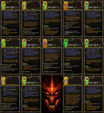 Diablo 3 RoS PS4 [HARDCORE] Complete Modded Weapon Bundle [All Classes] - BiS!
