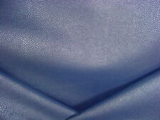 4-7/8Y Wolf Gordon Zigrino Marlin Blue Faux Leather Vinyl Upholstery Fabric