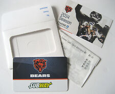any Subway Sandwich Chicago Bears Re-Load $5 Gift Card *Gr8 4 Football Collector