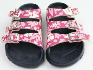 Birkenstock Birki's Sansibar pink floral tropical sandal EUR 39 US 8 3 strap