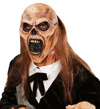 Graveyard Zombie Halloween Fancy Dress 3/4 Latex Face Mask with Hair