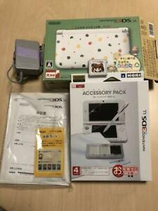 Nintendo 3DS LL Console Animal Crossing Happy Home Designer Pack White Japanese