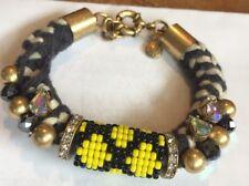 J Crew Crystal Cuff Statement Bracelet 98  Style Rhinestone Beaded Beaded