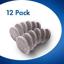 12x Round Furniture Felt Pads 25mm Chair Floor Protectors for Hardwood 5mm Thick
