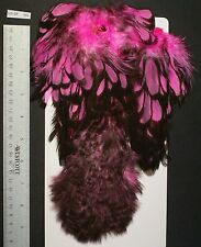 Whiting Pink Black Laced White Soft Hackle With Chickabou Hen Pelt