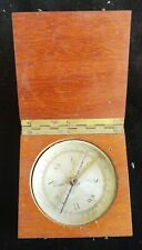 Antique Wood Boxed Pocket Compass