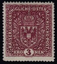 Österreich 1916 Wappen 3 Kreuzer Nr. 201 II postfrisch Befund BPP