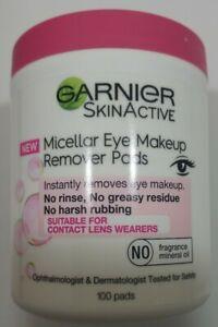 Garnier SkinActive Micellar Eye Makeup Remover Pads~~100 pads~~NEW~~