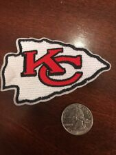 "Kansas City Chiefs vintage embroidered iron on logo patch 3.5"" x 2.5""  arrowhead"