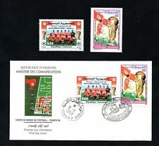 1998- Tunisia/Tunisie- Football World Cup France 1998- FDC and stamps MNH**