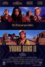 YOUNG GUNS 2 Movie POSTER 27x40 Emilio Estevez Kiefer Sutherland Lou Diamond