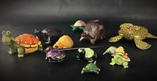 Collection tortues lot 12 tortues statuettes figurines-divers formes & matériels