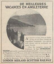 Z9200 Vacances en Angleterre - L.M.S -  Pubblicità d'epoca - 1929 Old advert