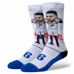 STANCE BEN SIMMONS PHILADELPHIA 76ERS SOCKS LARGE 9-13 BIG HEAD SOCKS SIXERS NEW