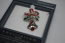 Equilibrium Christmas Bow And Bell Brooch 5911