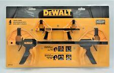 New DEWALT Trigger Clamp Set 4 Piece Med 12