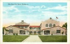 Florida, FL, Fort Myers, Elks Club 1920's Postcard