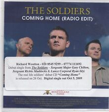 The Soldiers-Coming Home Promo cd single