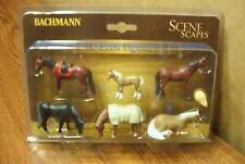 BACHMANN SCENE SCAPES HORSES O SCALE FIGURES