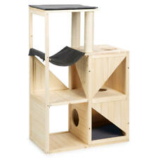 Design Katzen Kratzbaum Holz Echtholz Kletterbaum Spielen Kratzen Ruhen Schlafen