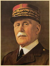 WW2 France Marshall Petain portray poster