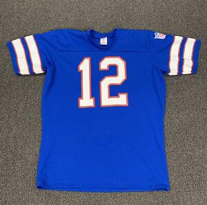 Vintage Buffalo Bills Rawlings Blue Jersey Shirt Men's Large 42-44 NFL Single