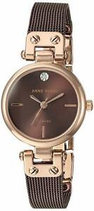 Anne Klein Brown Stainless Steel Ladies Watch AK-3003RGBN