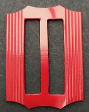 Crimson Red 1940s Casein 6cm Belt Buckle