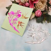 Stanzschablone Schwalbe Vogel Blume Weihnachten Geburtstag Hochzeit Karte Album