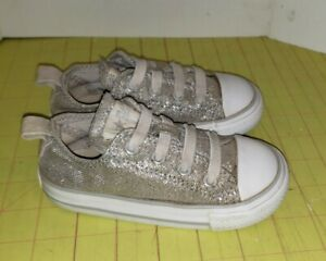 Converse All Star Silver Low Chuck Taylor Sneakers Baby Toddler Size 7