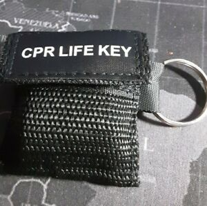 First aid resuscitation CPR facemask face mask shield key-ring Mouth to Mouth