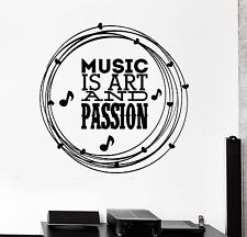 Wall Decal Music Art Best Quote for Room Mural Vinyl Stickers (ig2610)
