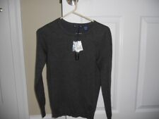 NWT Preswick & Moore women's sweater PS pullover charcoal gray