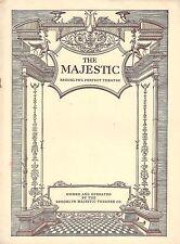"""Donald Brian """"MERRY WIDOW"""" Beppie De Vries / Franz Lehar 1932 Brooklyn Playbill"""