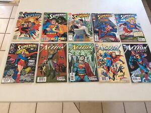 Superman, Action Comics, Superman Batman vintage comic book lot